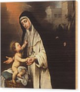 Saint Rose Of Lima Wood Print