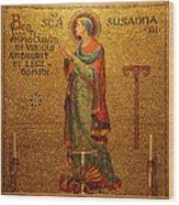 Saint Susanna Altar Wood Print