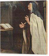 Saint Teresa Of Avila's Vision Of The Holy Spirit Wood Print