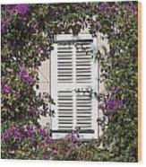 Saint Tropez Window Wood Print