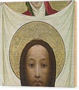 Saint Veronica With The Sudarium Wood Print