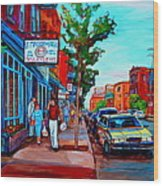Saint Viateur Bagel Shop Wood Print