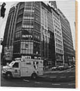Saint Vincent Catholic Medical Centre Ambulance Crossing 6th Avenue And Broadway Wood Print