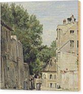 Saint-vincent Street, Montmartre Oil On Canvas Wood Print