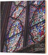 Sainte-chapelle Window Wood Print