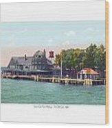 Sainte Claire Flats - Michigan - The Old Club - 1920 Wood Print