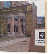 Saints - Champions Square - New Orleans La Wood Print