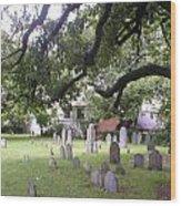 Salem Cemetery Wood Print