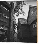 Salem's Witch House Wood Print
