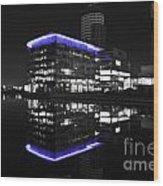 Salford Quay Reflection Wood Print