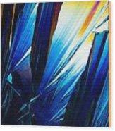 Salicylic Acid Crystals In Polarized Light Wood Print
