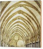 Salisbury Cathedral Cloisters 2 Wood Print