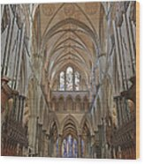 Salisbury Cathedral Quire And High Altar Wood Print
