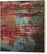 Salivated Flame  Wood Print