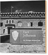 Sally Port Entrance To Fort Jefferson Dry Tortugas National Park Florida Keys Usa Wood Print by Joe Fox