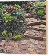 Sally's Garden Wood Print by Nancy Harrison