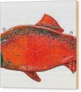 Salmon 1 Wood Print