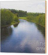 Salmon Catchers Club - Bjora River Norway. Doctor Andrzej Goszcz. Wood Print by  Andrzej Goszcz