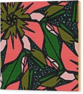 Salmon-pink Wood Print