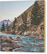 Salmon River In The Twilight Wood Print