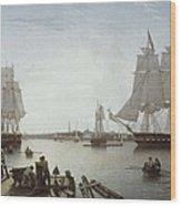 Salmon, Robert 1775-1845. Boston Wood Print