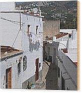 Salobrena Street - Spain Wood Print