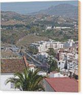 Salobrena Town View Wood Print