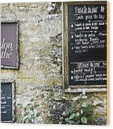 Salon De The - French Menu Signs Wood Print
