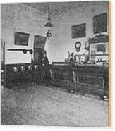Saloon C. 1890 Wood Print