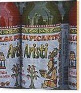 Salsa Picante Playa Del Carmen Mexico Wood Print
