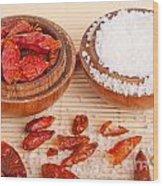 Salt And Piri Piri Wood Print