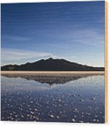 Salt Cloud Reflection Wood Print