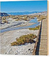 Salt Creek Trail Boardwalk In Death Valley National Park-california  Wood Print