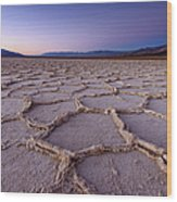 Salt Flat Basin Wood Print