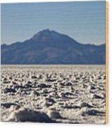 Salt Flat Surface Wood Print