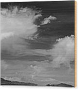 Salt Flats Clouds Wood Print