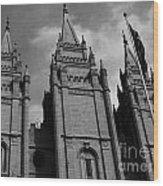 Salt Lake City Lds Temple 3 Wood Print
