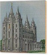 Salt Lake City Temple I Wood Print