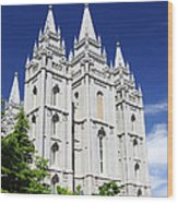 Salt Lake Mormon Temple Wood Print