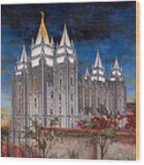 Salt Lake Temple Wood Print by Jeff Brimley