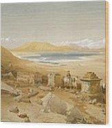 Salt Lake - Thibet, From India Ancient Wood Print