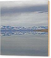 Salt Lake Winter Wood Print
