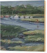 Salt Marsh Wood Print