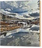 Salt River Pass Wood Print