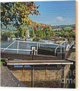 Saltford Locks  Wood Print