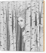 Forest Girl Wood Print
