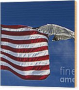Salute The Flag Wood Print by Tim Wilson