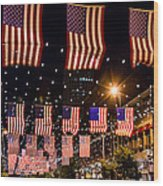 Salute To Old Glory Wood Print