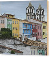 Salvador Brazil The Magic Of Color Wood Print