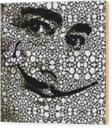 Salvador Dali - Surreal - Stone Rock'd Art By Sharon Cummings Wood Print
